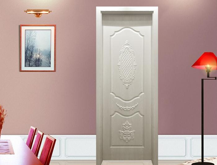 平板雕刻无漆木门